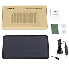 aukey mini solar ladeger t 8w mit 12v steckdose stecker. Black Bedroom Furniture Sets. Home Design Ideas