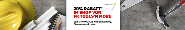 Bild zu Rakuten: 20% Rabatt auf alles im FK Tools´n more Shop