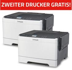 Bild zu 2 x LEXMARK CS417dn Farblaser-Drucker (A4, Drucker, Duplex, Netzwerk, USB) für 139€ (Vergleich 1 Drucker = 99€)