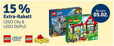 Bild zu MyToys: 15% Extra Rabatt auf Lego City & Lego Duplo