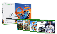 Bild zu Microsoft.fr: Xbox One S 500GB + Forza Horizon 3 Hot Wheels + Minecraft Explorers + Sunset Overdrive + Super Lucky's Tale + Forza Motorsport 7 + FIFA18 für 279€