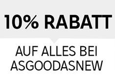 Bild zu Rakuten: 10% Rabatt auf alles bei asgoodasnew