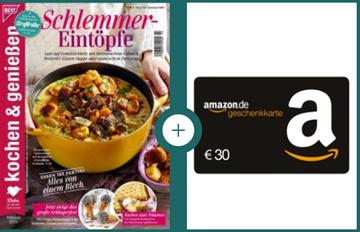 """Bild zu Jahresabo (12 Ausgaben) der Zeitschrift """"kochen & genießen"""" für 38,40€ + 30€ Prämie für den Werber"""