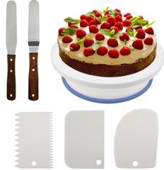 Bild zu Tortenplatte mit 2 Tortenmesser für 7,99€