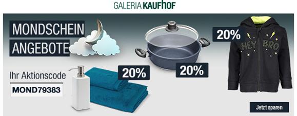 Bild zu Galeria Kaufhof Mondschein Angebote, z.B. 20% Rabatt auf Trainingsanzüge der Marken Adidas, Nike, Manguun Sports