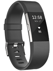 FITBIT--Charge-2-Large--Activity-Tracker--165-206-mm--Kunststoff--Schwarz-Silber