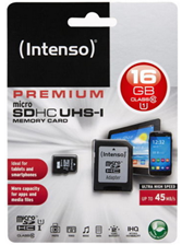 Bild zu Intenso Micro SDHC Karte 16GB UHS-I Speicherkarte für 6,99€