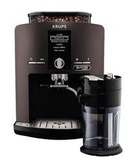 Bild zu KRUPS EA82 Latt´Espress Kaffeevollautomat (1.7 Liter Wassertank, 15 bar, Edelstahl-Kegelmahlwerk) in silber oder schwarz für je 299€