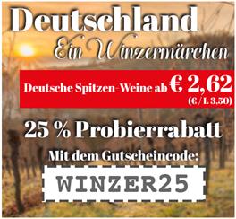 Bild zu Weinvorteil: reduzierte deutsche Weine mit 15% Extra Rabatt