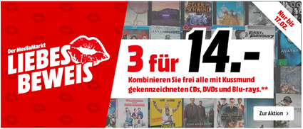 """Bild zu MediaMarkt: """"3 für 14€"""" Aktion auf DVDs, Blu-rays und CDs"""