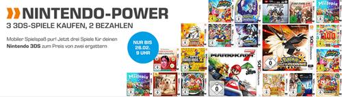 Bild zu Saturn: drei Nintendo 3DS Spiele kaufen, nur zwei bezahlen