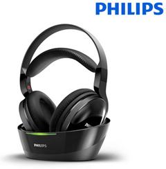 Bild zu Philips SHC8800/12 Over-Ear Funkkopfhörer (offen, 100m Reichweite) schwarz für 45,90€