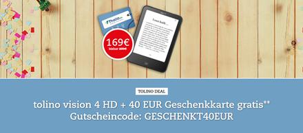 Bild zu Thalia: tolino vision 4 HD für 169€ + 40€ Geschenkkarte