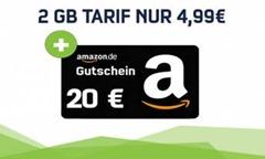 Bild zu [letzte Chance] Vodafone Smart Surf mit einer 2GB Datenflat + 50 Freiminuten + 50 SMS + 20€ Amazon.de Gutschein für 4,99€/Monat