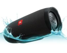 JBL Charge 3 Wasserdichter tragbarer Lautsprecher mit leistungsstarkem Akku für das Aufladen Deiner Geräte