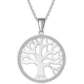Bild zu [Prime] Atmoko Damen Halskette mit Baum des Lebens Anhänger für 10,99€