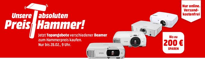 """Bild zu MediaMarkt """"Preishammer"""": Beamer von Epson und Acer, z.B. EPSON EH-TW610 Beamer (Full-HD, 3000 Lumen) für 599€ inkl. Versand"""