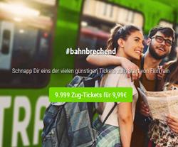 Bild zu Flixtrain: 9.999 Zug-Tickets für je 9,99€