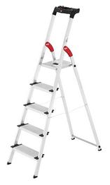Bild zu Hailo Profistep XXL Aluminium Sicherheitsleiter 5 Stufen für 49,99€ (Vergleich: 69,99€)