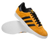 Bild zu adidas Originals Gazelle Unisex Sneaker gelb/schwarz für 49,99€ zzgl. eventuell 3,95€ Versand