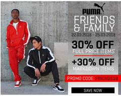 Bild zu Puma Friends & Family: 25% Rabatt auf das gesamte Sortiment (auch auf reduzierte Artikel)