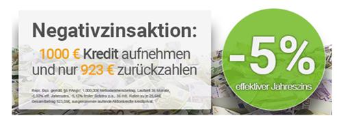 Bild zu [wieder da] Smava: Kredit (1.000€ / 36 Monate Laufzeit) mit Negativzins (-5%) aufnehmen – 1.000€ leihen und 923,04€ zurückzahlen