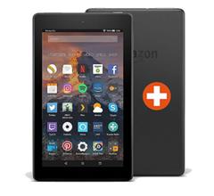 Bild zu Doppelpack: 2x Amazon Fire 7 Tablet WiFi 16 GB mit Spezialangeboten für 63,85€ (Vergleich 1 Tab = 64,99€)