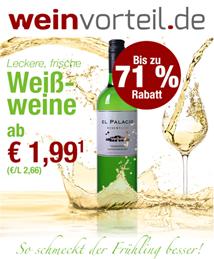 Bild zu Weinvorteil: Weißwein Sale mit Weinen ab 1,99€ pro Flasche