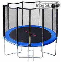 Bild zu Arebos Trampolin 244 cm mit Leiter und Netz für 87,92€