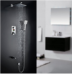 Bild zu Homelody Unterputz Duschsystem mit LCD Wassertemperatur/Zeit Display für 139,19€