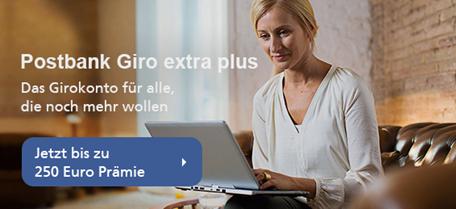 Bild zu Postbank: bis zu 250€ Prämie für das Girokonto extra plus
