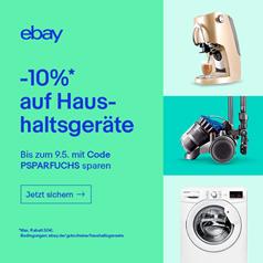 Bild zu eBay: 10% Rabatt auf Haushaltsgeräte