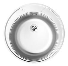Bild zu Einbauspüle (rund, Edelstahl, 48cm) für 19,90€