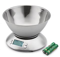 Bild zu Elektrische Küchenwaage aus Edelstahl mit 2l Schale, LCD Display, Timer usw. für 15,01€
