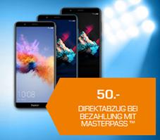 Bild zu HONOR 7X Smartphone (64 GB, 5.93 Zoll, Dual SIM) für je 199€ (bei Bezahlung mit Masterpass)