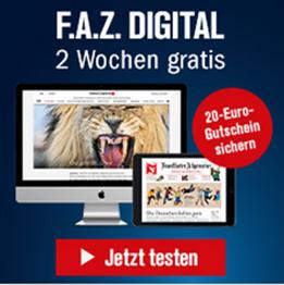 Bild zu zwei Wochen gratis die Frankfurter Allgemeine Zeitung + Sonntagszeitung digital lesen