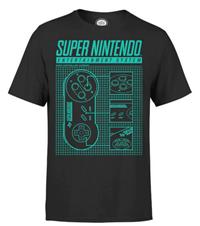 Bild zu Nintendo T-Shirt Super Nintendo Entertainment System schwarz für 10,99€
