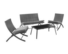 Bild zu 4-teilige Loungegarnitur Luan inkl. Auflagen ab 89€