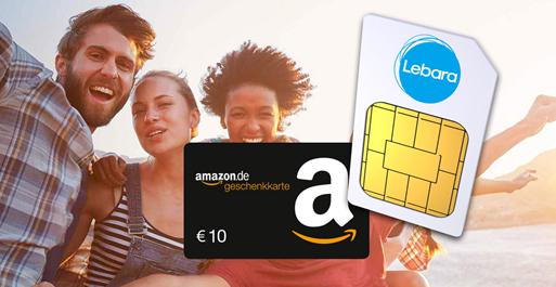 Bild zu Lebara Prepaid-Karte für 4,99€ + 10€ Amazon.de-Gutschein