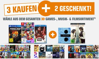 """Bild zu Saturn: """"3 Kaufen + 2 Geschenkt"""" im Bereich Games, Musik und Filme"""