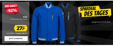 Bild zu SportSpar: Nike Herren Brasil All Wool Destroyer Bomber Jacke für je 31,22€