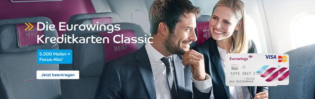 Bild zu Eurowings Kreditkarte kostenlos im 1. Jahr mit 5.000 Meilen + 1 Jahr gratis Focus Abo