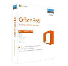 Bild zu Microsoft Office 365 Home Abonnement – 1 Jahr (Code in a Box) für 44€