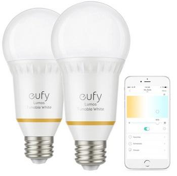 Bild zu Smarte Glühbirne Eufy Lumos im Doppelpack (E27) für 35,90€