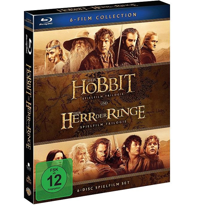 Bild zu Der Hobbit und Der Herr Der Ringe: Mittelerde Collection [Blu-ray] für 19€ (Vergleich: 22,26€)