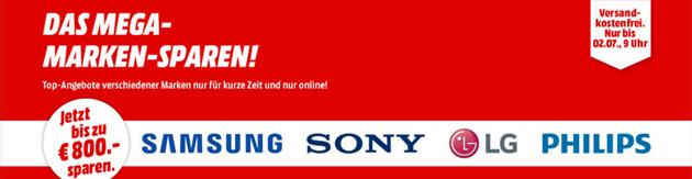 Bild zu MediaMarkt: Mega Marken Sparen mit Angeboten von LG, Samsung, Huawei und Grundig