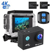 IceFox Action Cam 4k, Ultra FHD Unterwasserkamera 30M Amazon de Kamera