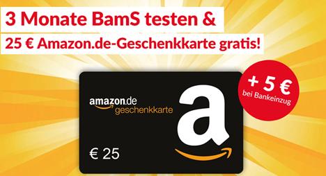 """Bild zu [geht noch] 3 Monate """"Bild am Sonntag"""" ab 22,30€ + 25€ Amazon.de Gutschein als Prämie"""