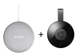 Bild zu Google Home Mini + Google Chromecast 2 für 49€