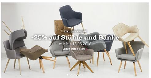 Bild zu Mömax: 25% Rabatt auf Stühle und Bänke
